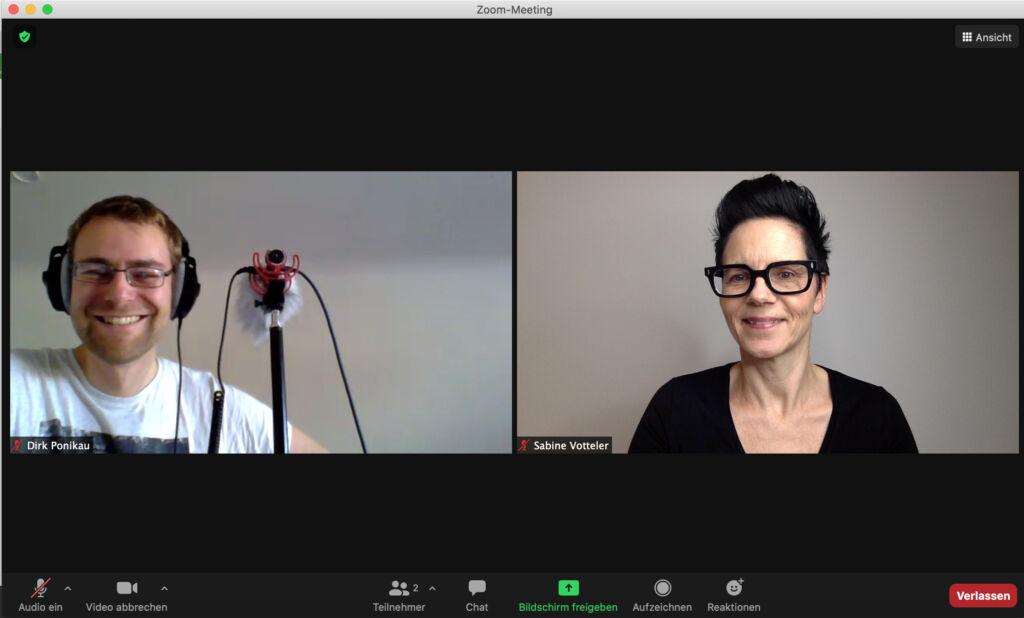 Sabine Votteler undDirk Ponikau Podcastinterview
